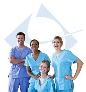 Team of healthcare workers
